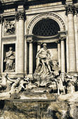 Colors of Trevi Fountain in March, Rome — Stock fotografie