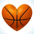 Ball for basketball in the shape of heart — Stock Vector #9466126