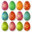 Set of easter eggs — Stock Vector #9466947
