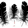 Vector feather silhouette — Stock Vector #9466955
