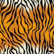 Tiger skin. Vector seamless texture — Stockvektor