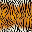 Tiger skin. Vector seamless texture — Stock Vector