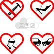 Valentine s hearts cards - Stock Vector