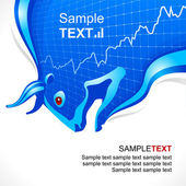 Bull frame. Business and finance symbol — Vector de stock