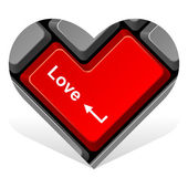 Heart 15. enter love — Stock Vector