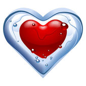Heart N4. Thawing ice — Stock Vector
