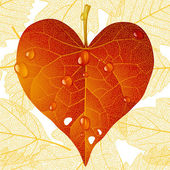 Autumnal love — Stockvector