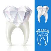 Diş elmas güçlü — Stok Vektör