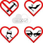 Valentine s hearts cards — Stock Vector