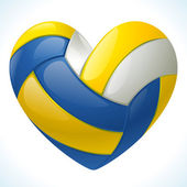 I love volleyball — Stock Vector