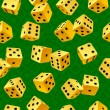 Vector yellow dice seamless background - Stock Vector
