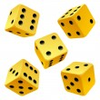 Dice set. Vector icon — Stock Vector