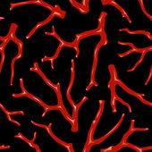 Coral seamless texture — Stock Vector
