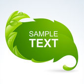 Vector green leaf frame, spring background — 图库矢量图片