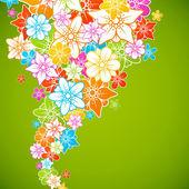 Tle kolorowych kwiatów. styl kwiaty ramki — Wektor stockowy