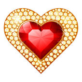 Heart jewelry — Vector de stock
