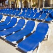 Stock Photo: Rows of Blue Chairs
