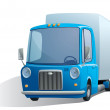 Royalty-Free Stock Vector Image: Blue retro truck