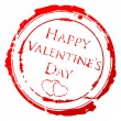 Valentine's Day stamp - Stockvectorbeeld