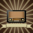 Stock Vector: Vector old radio