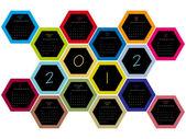 Honey comb 2012 calendar — Stock Vector