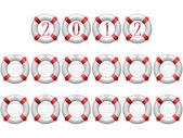 2012 life buoy calendar — Stock Vector