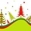 Christmas trees background — Stock Vector