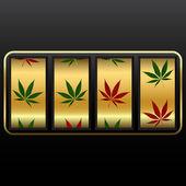 Cannabis slot machine — Stock Vector