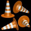 Traffic cones — Stock Vector #8995227
