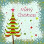 шаблон Рождественская открытка — Cтоковый вектор