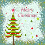 Template christmas greeting card — Stock Vector