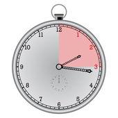 Metallic chronometer — Stock Vector
