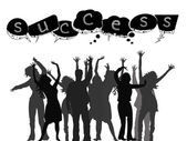 Successful silhouettes — Stockvector