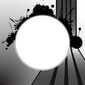 Round splats template — Stock Vector