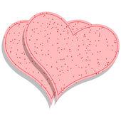 Papier roze harten — Stockvector