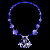 Diamonds necklace — Stock Vector