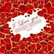 Stockvector : Abstract valentine card with heart