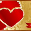 Abstract valentine card with heart — Vector de stock #9174073