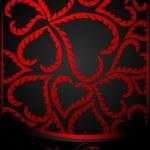 abstracte valentine kaart met hart — Stockvector