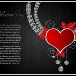 tarjeta de San Valentín abstracto con corazones — Vector de stock