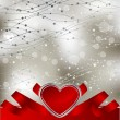 Abstract valentine card with hearts — Image vectorielle