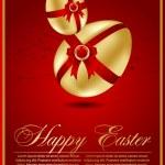 Paskalya yumurtası ile çiçek öğeleri — Stok Vektör
