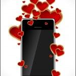 carte de Saint Valentin abstraite avec coeurs — Vecteur