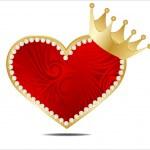 cartão abstrato dos namorados com corações — Vetorial Stock