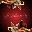 Royalty-Free Stock ベクターイメージ: Floral valentine card with red heart
