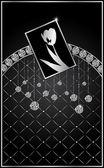 ダイヤモンドと抽象的な背景 — ストックベクタ