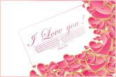 Kalp ile soyut sevgililer günü kartı — Stok Vektör