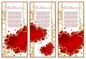 Abstrakte Valentinstags-Karte mit Herzen — Stockvektor