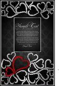 Abstrakt valentine kort med hjärtan — Stockvektor