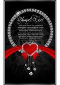 Cartão abstrato dos namorados com corações — Vetor de Stock